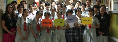 Thank you homestay families