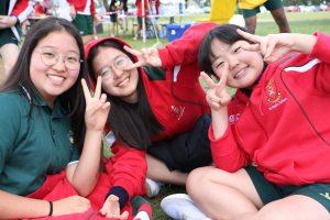 Ella, Tae and Nunu at Sports Day
